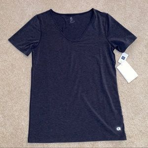 GAPFIT BREATHE DARK GRAY V NECK T SHIRT NWT S